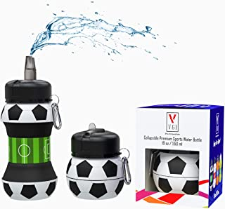 Kids Sports Water Bottle Collapsible Ball Shaped Drinking...
