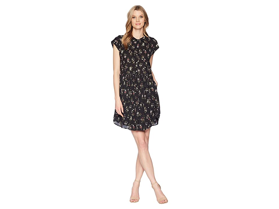 B Collection by Bobeau Mare Dolman Sleeve Dress (Ditsy Floral) Women