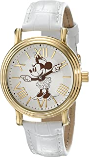 Disney Women's W001859 Minnie Mouse Analog Display Analog Quartz White Watch