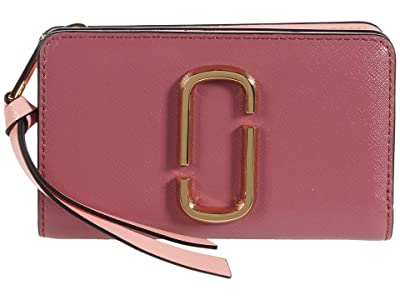 Marc Jacobs Snapshot Compact Wallet (Dusty Ruby Multi) Wallet Handbags