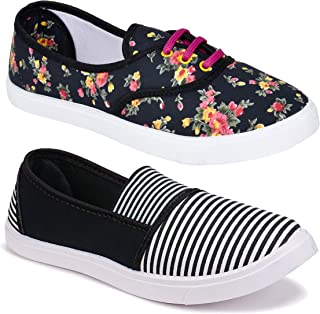 Shoefly Women Multicolour Latest Collection Loafers Shoes-Pack of 2 (Combo-(2)-611-11022)
