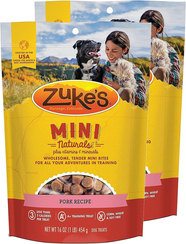 Zuke's Mini Naturals Dog Treats Pork Recipe 16 oz 2 Pack