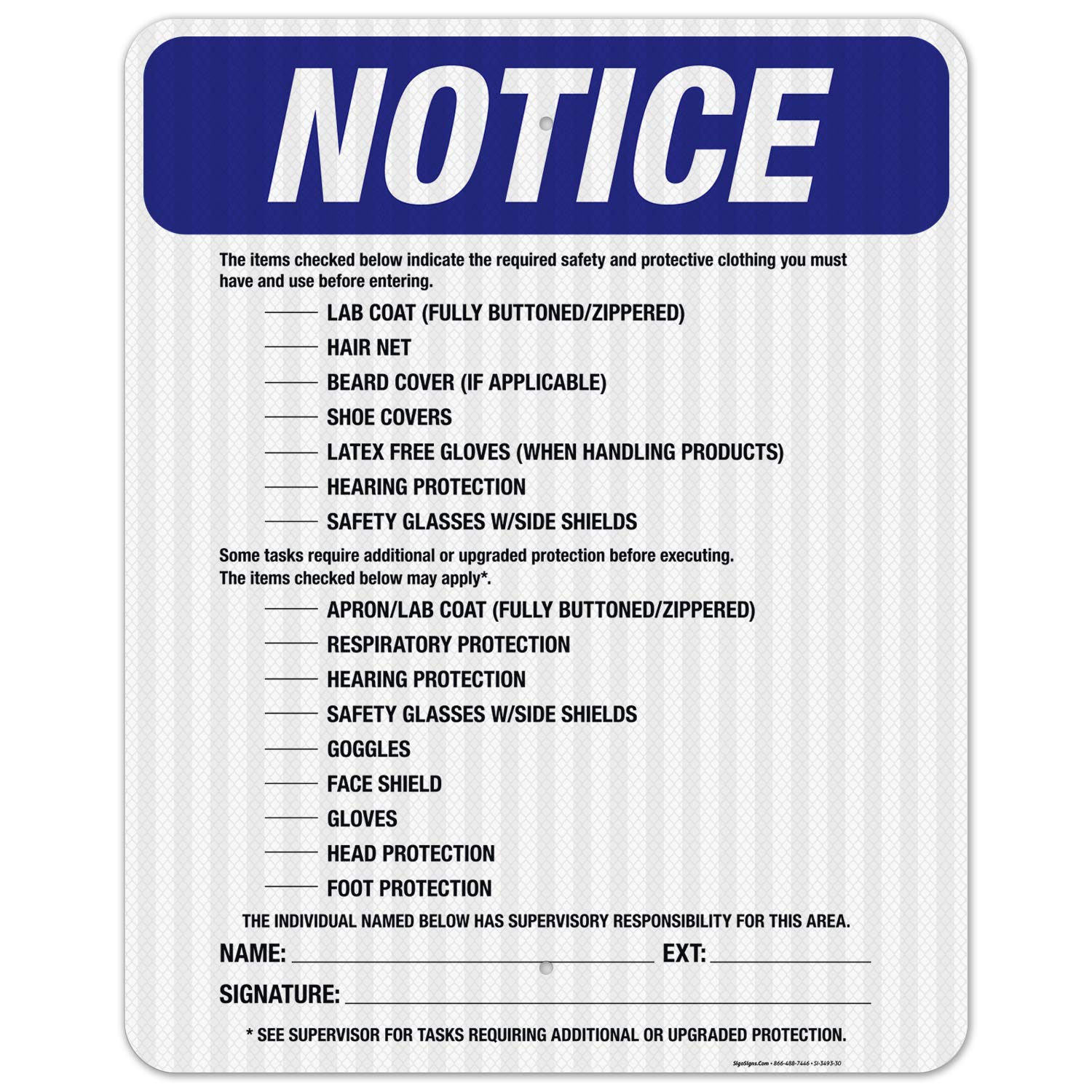 Checked Items Below are Required Noti Before OSHA Max 78% OFF Sign discount Entering