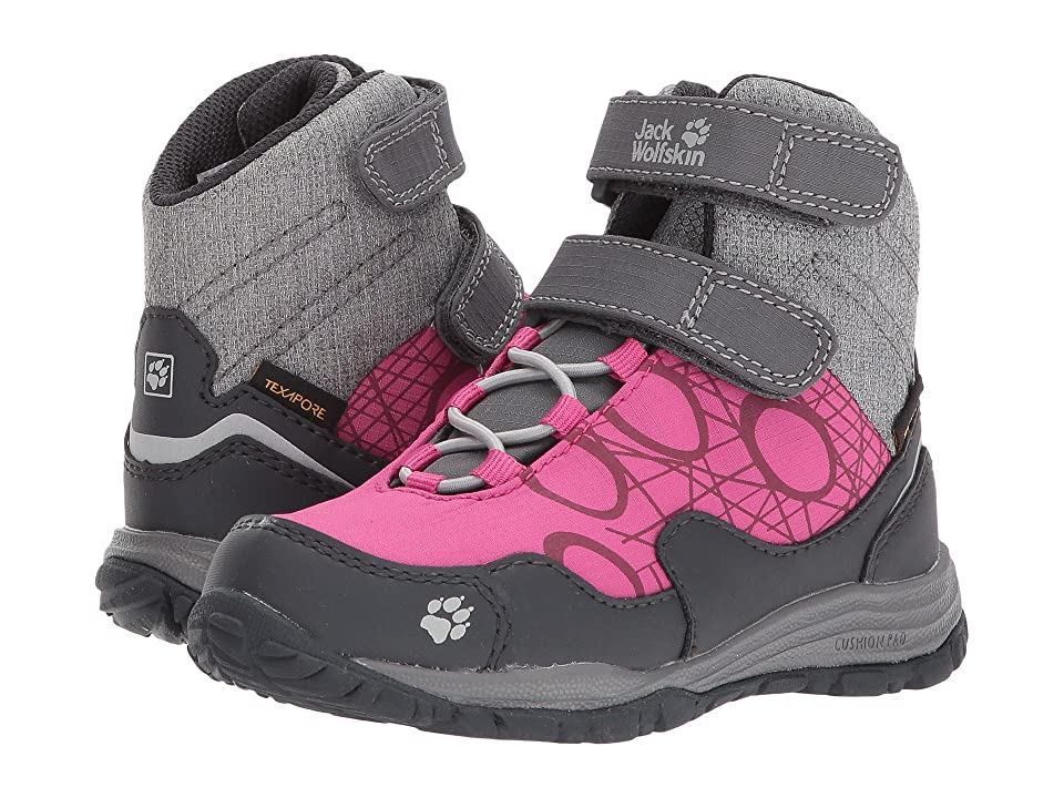 Jack Wolfskin Kids Portland Waterproof High VC (Toddler/Little Kid/Big Kid) (Fuchsia) Kids Shoes