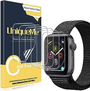 UniqueMe [6 Pack] Protector de Pantalla para Apple Watch 38mm Series 1/2/3, [Caso amistoso] [Película Flexible] Soft HD Clear Anti-Scratch con