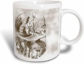 3dRose Caterpillar on Mushroom Vintage Alice in Wonderland Ceramic Mug, 11-Ounce