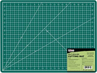 "US Art Supply 18"" x 24"" GREEN/BLACK Professional Self Healing 5-Ply Double Sided Durable Non-Slip PVC Cutting Mat Great fo..."