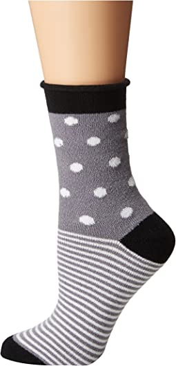 Thin Rolled Fleece Socks