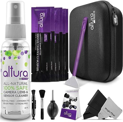 Altura Photo Professional Full Frame Sensor Cleaning Kit - Camera Cleaning Kit for FF DSLR & Mirrorless Cameras - w/Sensor...