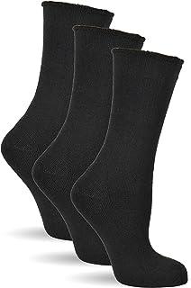 Frostfighter, Calcetines térmicos sin goma para hombre, 6 pares, de invierno, de algodón, forro interior de rizo