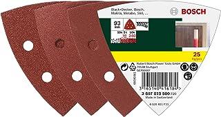Bosch 2 608 605 148 Pack de 5 hojas de lija 93 mm, 40