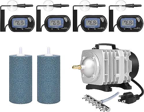 wholesale VIVOSUN 4-Pack LCD Digital wholesale Aquarium Thermometer, Air Stone 2PCS 4 X 2021 2 Inch, Air Pumps for Aquarium outlet online sale