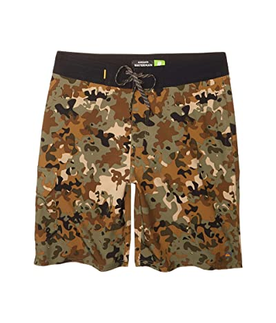 Quiksilver Waterman Angler Camo Beachshorts (Forest Night) Men