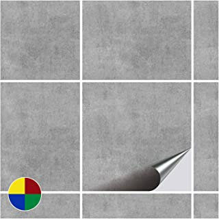FoLIESEN 2245020 Stickers Carrelage 15x15 Cm, PVC, Décor Greydi, 20 Pièces