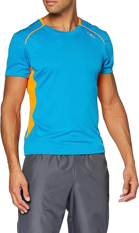 CMP T-Shirt da Running Traspirante con Trattamento Antibatterico