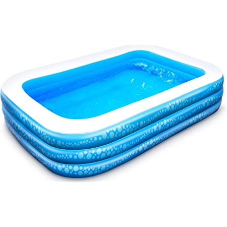 """Inflatable Pool, Hesung Family Swimming Pool for Kids, Toddlers, Infant, Adult, 95"""" X 56"""" X 21"""" Full-Sized Inflatable Blow Up Kiddie Pool for Ages 3+, Outdoor, Garden, Backyard, Summer Swim Center"""