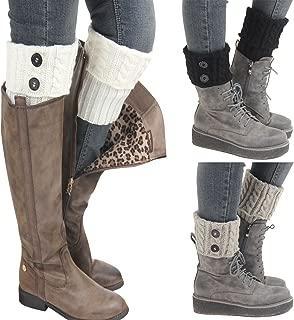 Kaariss Women Winter Warm Crochet Knitted Boot Cuff Sock Short Leg Warmers