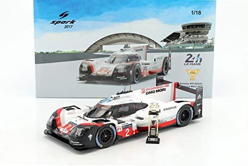 Spaßk Porsche 919 brid Winner Le Mans 2017 to Miniatur-Collection, 18lm17, Weißrot Schwarz