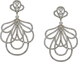 Nina - Fluid Line Micro Swarovski Earrings