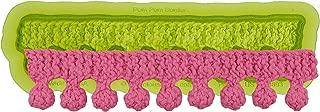 Marvelous Molds Pom Pom Knit Silicone Cake Border Mold | Cake Decorating | Fondant Gum Paste Icing