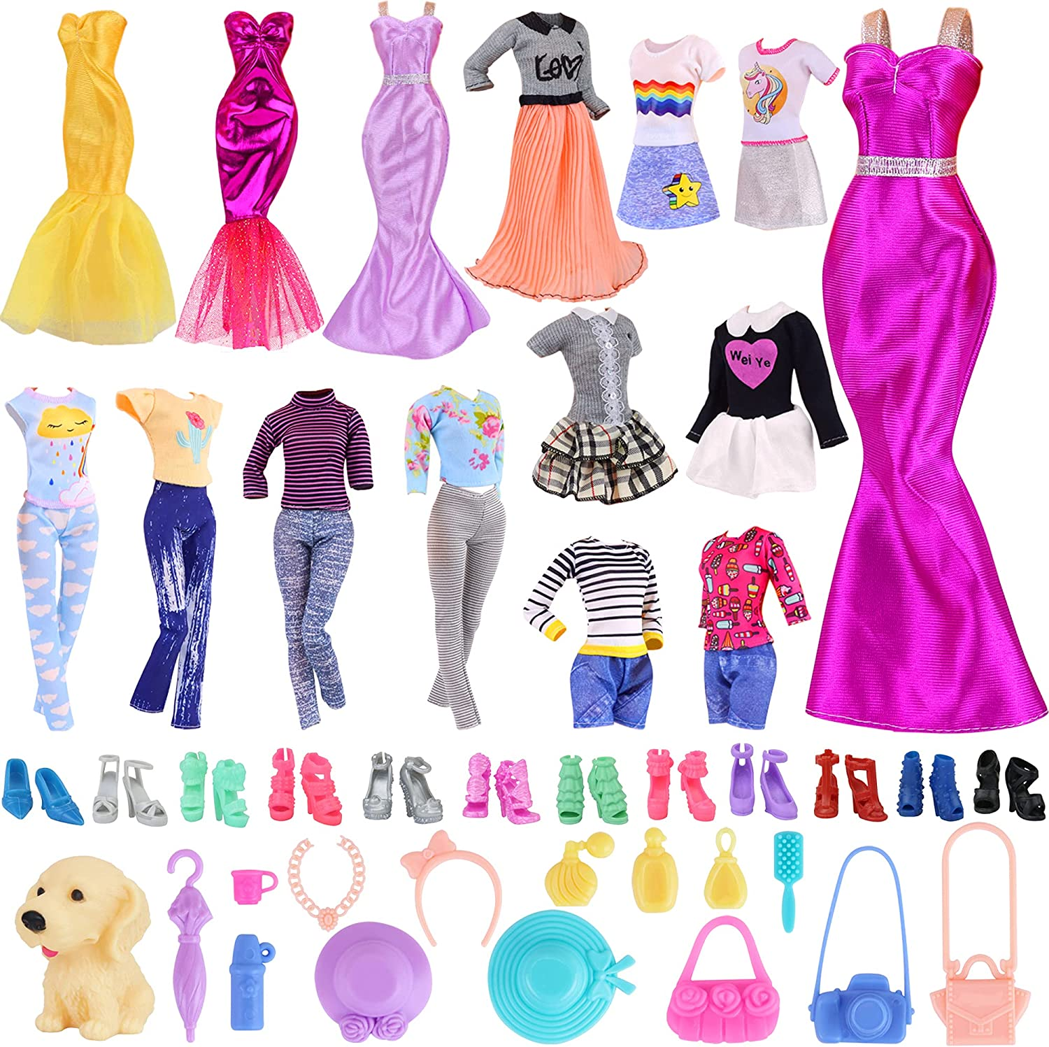 K.T. Max 45% OFF Fancy 35 PCS Doll Clothes Accessories Max 48% OFF 5 Fashion and