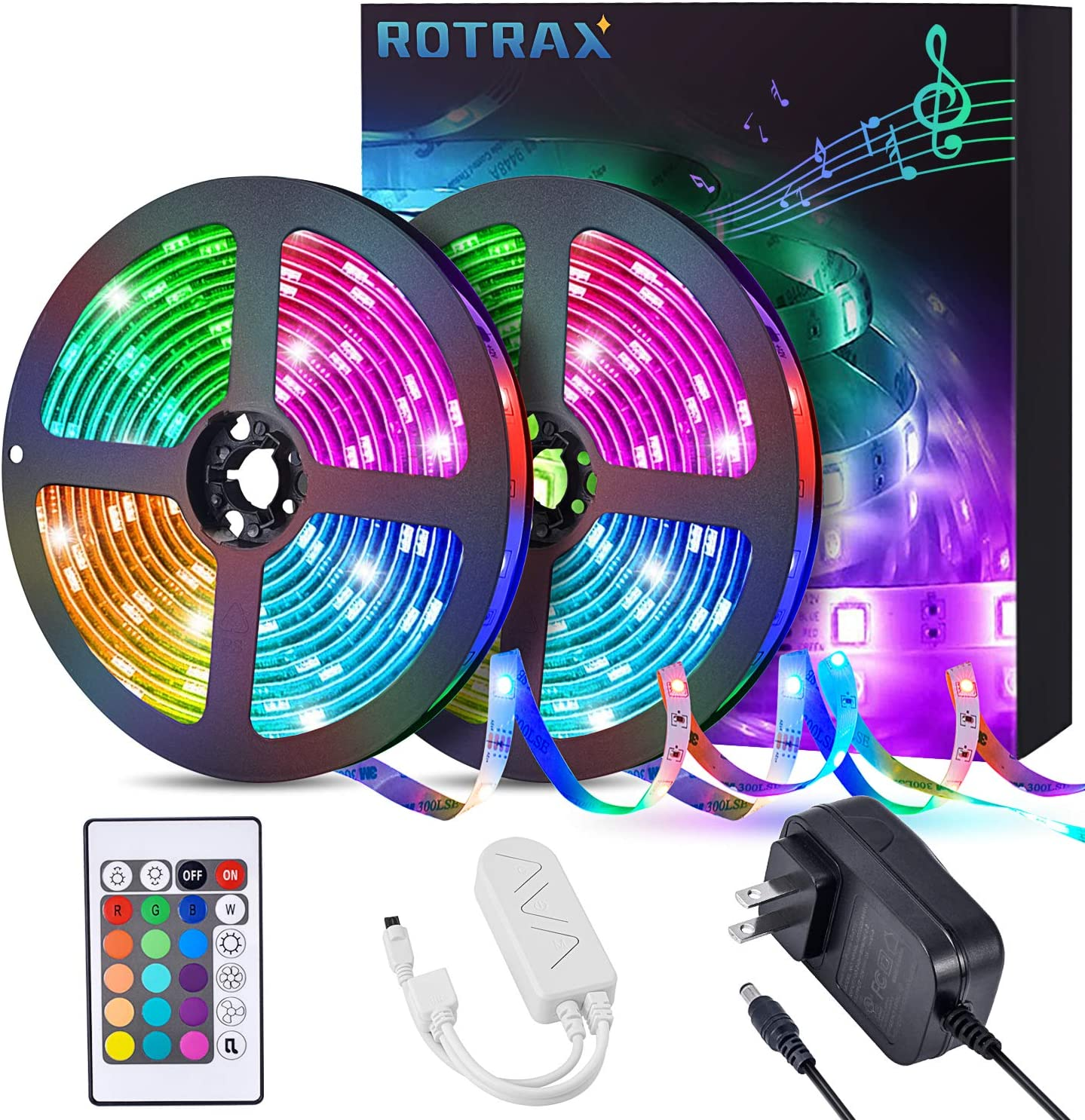 Led Strip Lights Rotrax 32.8ft Changing Light Color In stock Sync 5 popular Music