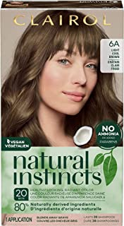 Clairol Natural Instincts Semi-Permanent Hair Color, 6A Light Cool Brown, 1 Count