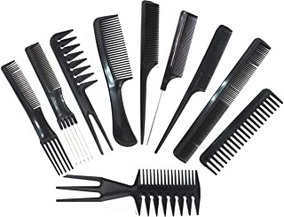 (Black) - Magic 10 Piece Professional Styling Comb Set
