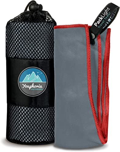 Youphoria Outdoors Microfiber Travel Towel - Ideal Fast Drying Towels for Camping,Travel, Beach, Backpacking, Gym, Sp...