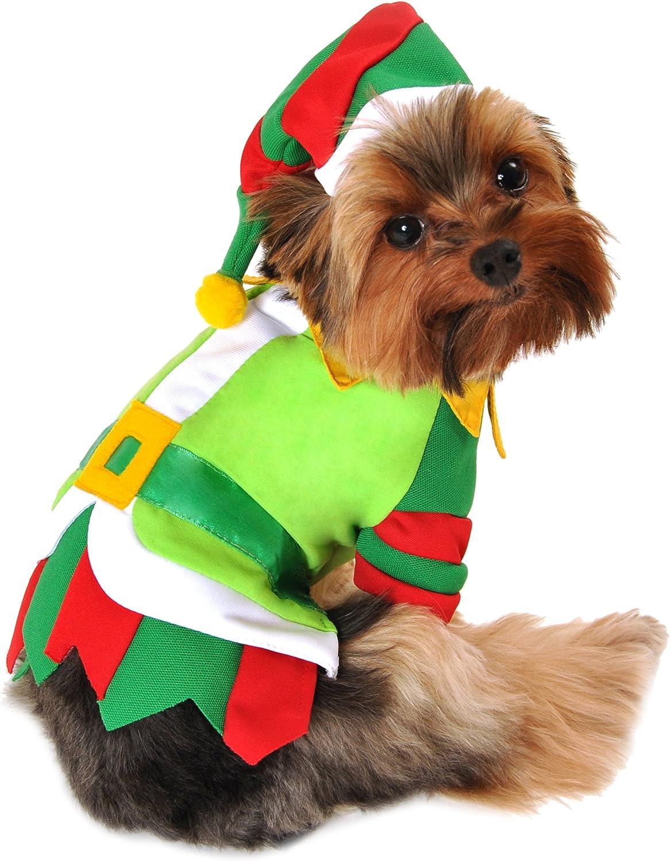 Anit Accessories 12Inch Santa's Lil' Helper Dog Costume, Small
