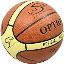 Lusum 10 x Munifex Rubber Indoor//Outdoor Basketballs including Breathable Ball Bag