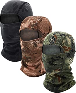 3 Pieces Balaclava Face Mask Motorcycle Windproof Camouflage Fishing Face Cover