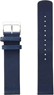Skagen Men's 20mm Leather Watch Strap, Color: Blue (Model: SKB6056)