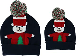 Gold Medal Women's Mommy and Me Matching Holiday Beanie Cuff Caps