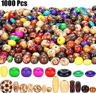 200PCS Bijoux Perles Mixte Bois Rond Perles De Teint 7x6mm Trou 3 mm