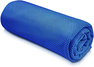 featured product Cooling Towel Sports Towels SKL Stay Cool Towel for Sports, Swimming, Women, Yoga, Workout, Athletes, Gym, Neck, Golf, Travel 36 inch x 12 inch - Only Blue