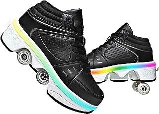 GGXINT Chaussure avec Roue Baskets Enfants Clignotante Chaussures À roulettes LED Chaussures Lumineuse À roulettes Patins ...