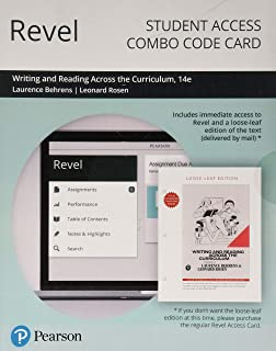 Revel for Writing and Reading Across the Curriculum -- Combo Access Card (14th Edition)