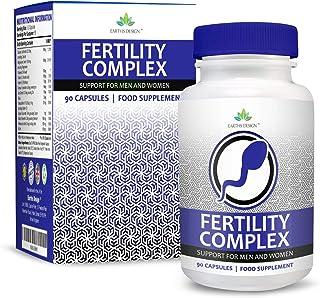 Vitaminas para Fertilidad - Suplemento Para Hombres y Mujeres - Con Zinc. Magnesio. Hierro. Calcio. Biotina. Vitamina B C D3-90 Tabletas (Suministro Para 3 Meses)