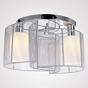Glighone Lámpara Colgante 40W Lámpara de Techo Luz Moderna Lámpara de Araña Iluminación Contemporáneo Elegante 2 Interfaces No Incluye Bombillas