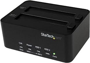"StarTech.com Dual Bay USB 3.0 Duplicator and Eraser Dock for 2.5"" & 3.5"" SATA SSD HDD - 1:1 Standalone Cloner & Wiper Dock..."