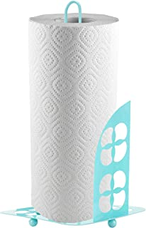 Home Basics Trinity Collection Pantryware Organization Set, Turquoise (Paper Towel Holder)