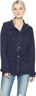 Angie Women's Navy Vintage Wash Jacket