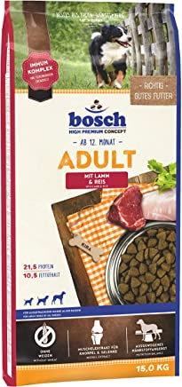 bosch HPC Adult mit Lamm & Reis | Hundetrockenfutter für ausgewachsene Hunde aller Rassen
