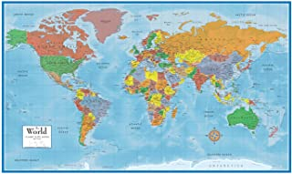 Swiftmaps World Premier Wall Map Poster Mural 24h x 36w