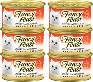 Purina Fancy Feast Classic Savory Salmon Can 85g (6 Cans)