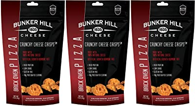 Bunker Hill Crunchy Cheese Crisps 100% Cheese High Protein Gluten Free Keto Snacks 2 Ounce Bag (Brick Oven Pizza, 3 Pack)