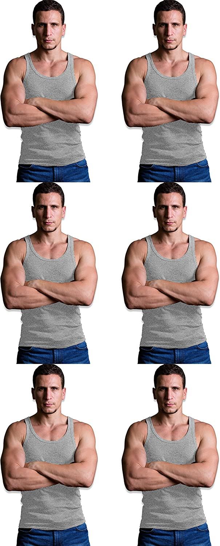 Andrew Scott Basics Boys 10 Pack Color A-Shirt Sport Tank Top Undershirts