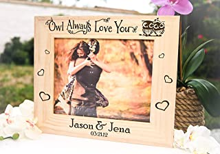 Personalized Engraved Picture Frame Owl Always Love You