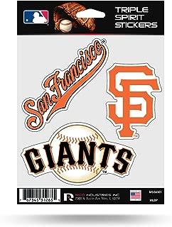 San Francisco Giants Triple Sticker Multi Decal Spirit Sheet Auto Home Baseball